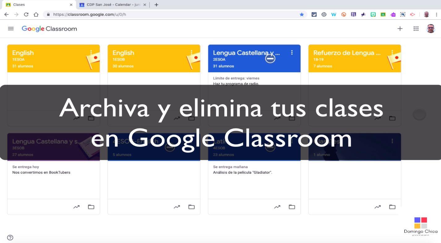 Cómo archivar y eliminar clases en Google Classroom